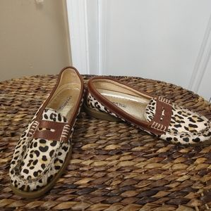 Sperry top Sider Hayden leopard calf hair penny 7m